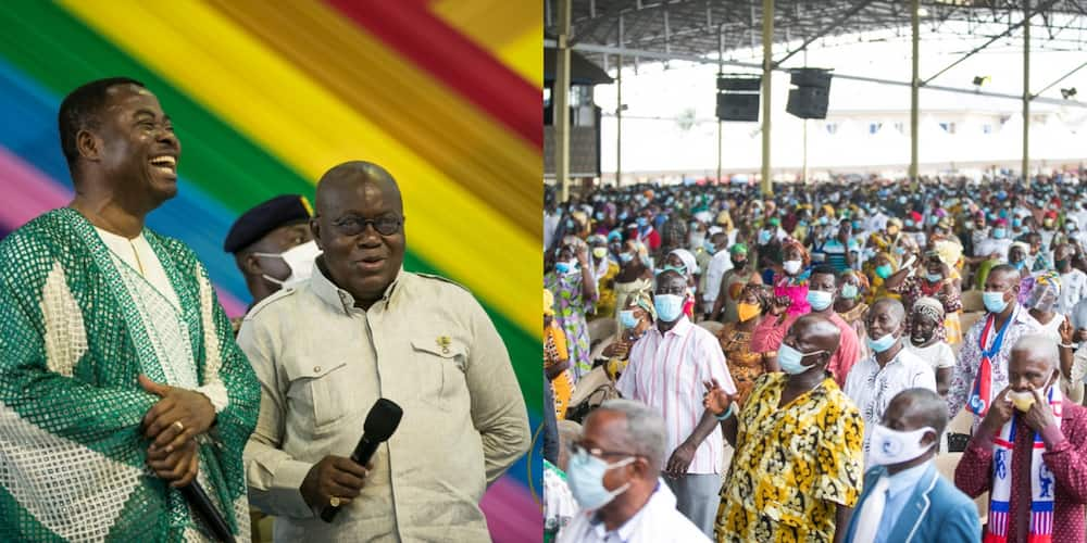 Akufo-Addo gives GHc 25k offering during visit to seek blessings at Resurrection Power Church