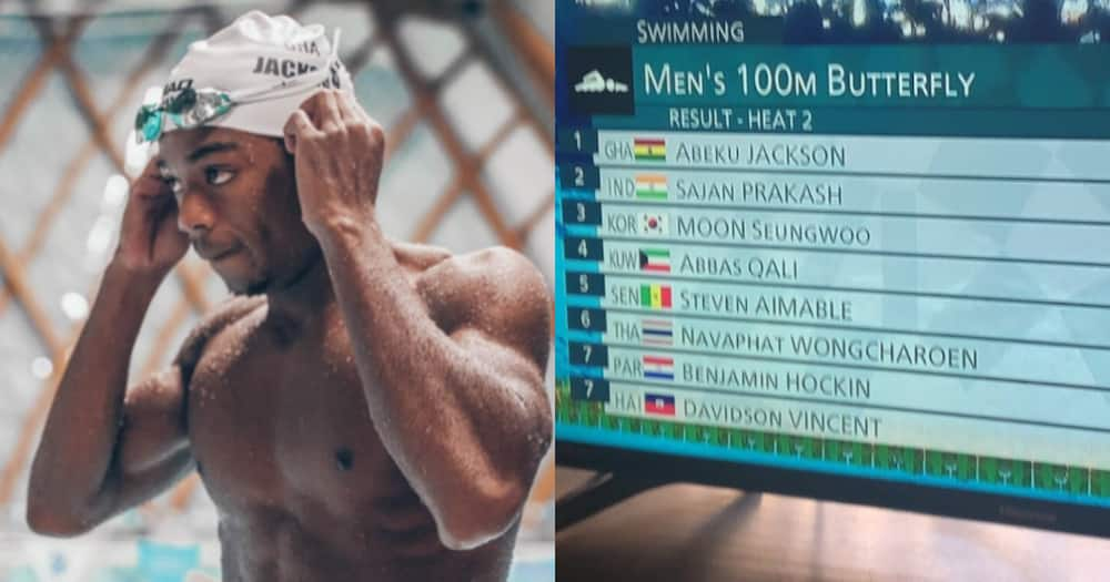 Tokyo 2020: Ghanaian swimmer Abeiku Jackson finishes first in 100m butterfly heat