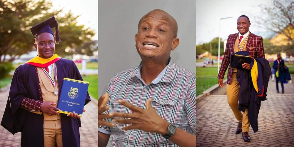 Rare photo of his Mustapha Hamid's look-alike son drops as he graduates from UCC with honours