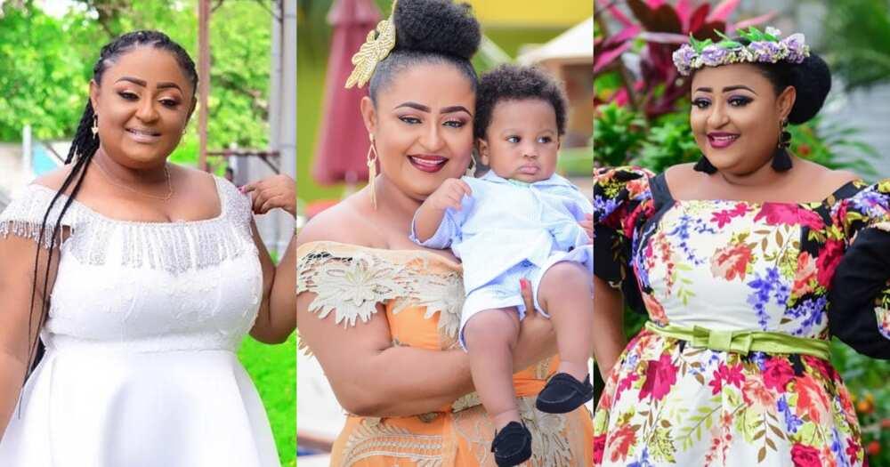 Matilda Asare: Kumawood actress celebrates last son Aaron on his birthday