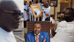 Sika Kasa: Despite, Ofori Sarpong, others join K Badu at his luxury mansion for his b'day party in video