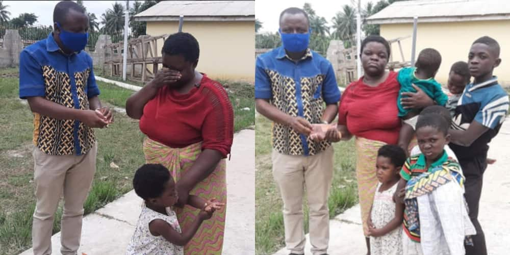 Touching lives: Struggling mum of 12 weeps as she received GHc1k to start business(Photos)