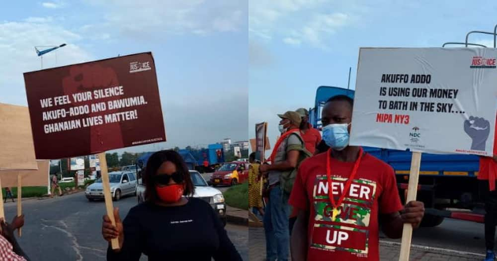 NDC protestors gather to begin their peaceful protest; photos emerge