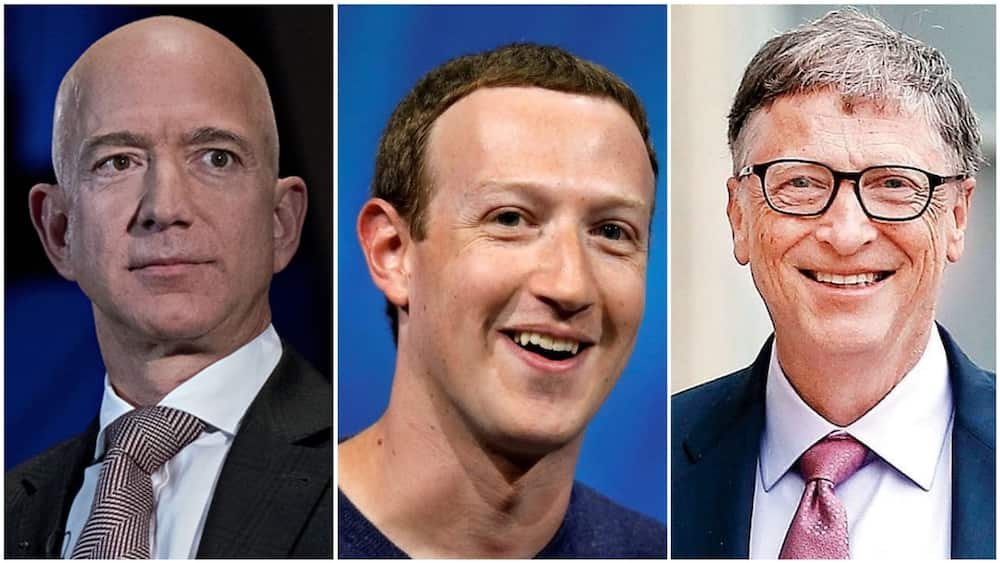 A collage of Bezos, Bill, and Zuckerberg. Photo source: Wiki Commons/Insider