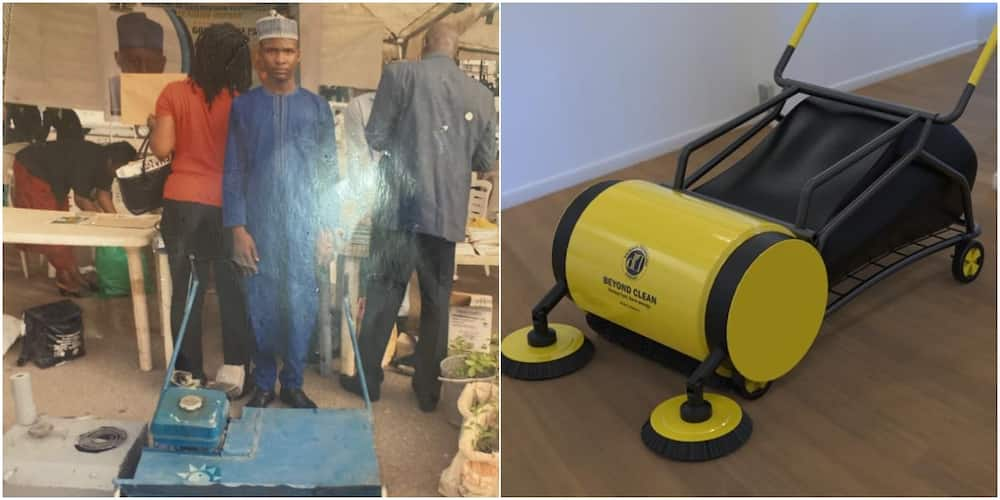 Nigerian genius celebrated after inventing road sweeping machine