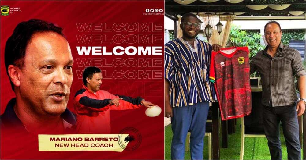 Mariano Barreto: Asante Kotoko Sign Former Black Stars Coach