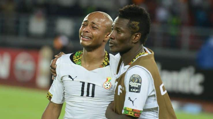 Asamoah Gyan finally opens up about Dede Ayew being captain of team