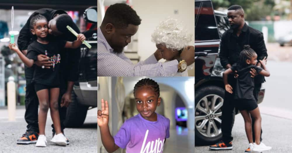 Sarkodie's Daughter Titi Welcomes him in style