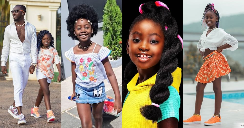 Sante Apau: Okyeame Kwame's Daughter Complains of Looking like a boy after Cutting Plenty hair