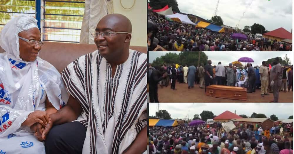 Video drops as thousands attend funeral of Vice President Bawumia's mother's funeral