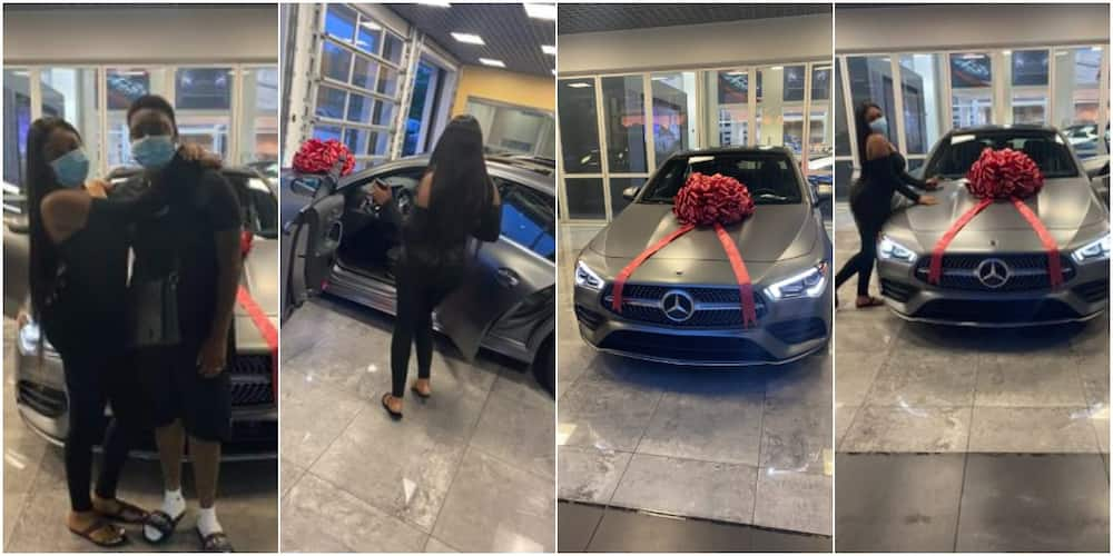 Social media reacts as man buys his wife brand new Mercedes-Benz