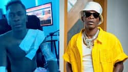 Video of Shatta Wale with plaster over his body pops up amid shooting reports; fans get worried