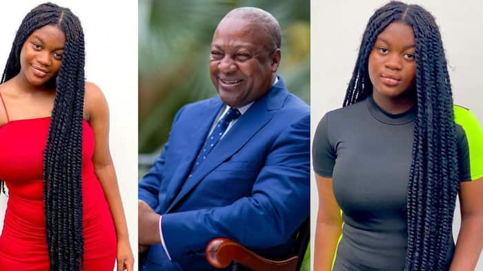 Mahama's only daughter drops new photos; Ghanaians stunned by her growth and beauty