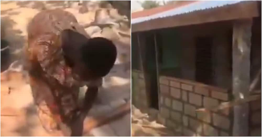 A/S: Determined Ghanaian woman builds own house with little money from scratch (Video