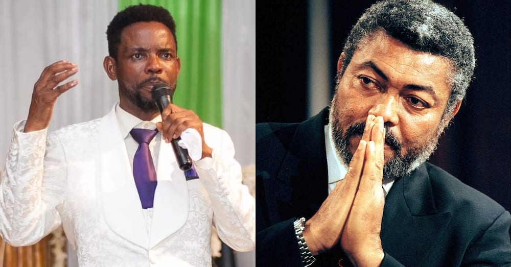 I see Ghanaians wearing black - Video of prophet suggesting Rawlings' death & giving exact dates surfaces