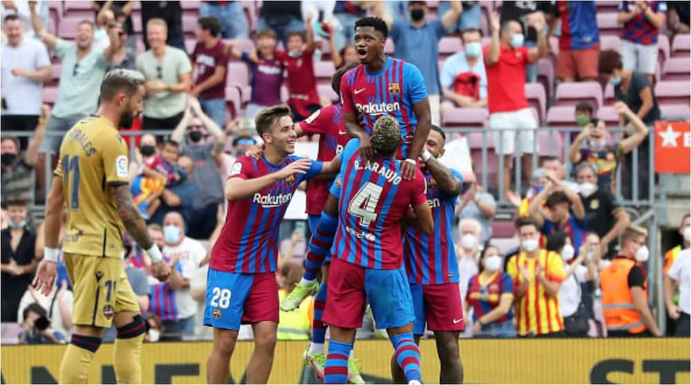 New Barcelona No.10 Ansu Fati Scores Just Nine Minutes Into Barcelona Return Ten-Months out Injured