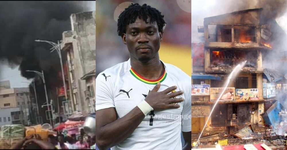 Makola fire Outbreak: Christian Atsu Calls out Ghana National Fire Service over