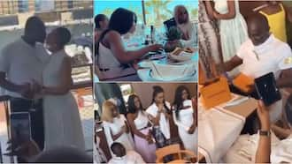 Ken Agyapong flies his 2nd wife & daughters to Dubai for his 61st birthday; lovely video from party pops up