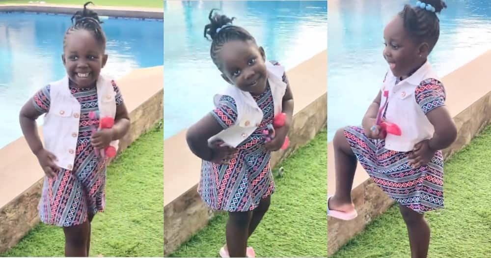 Jidula: Stonebwoy's Daughter stuns Ghanaians with Modeling and Posing Skills in new Video