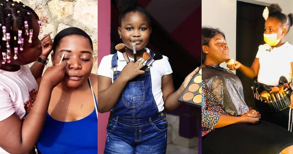 Stylish Nellisa: Photo of 10-year-old Beautician Braiding hair at age 4 Surfaces Online