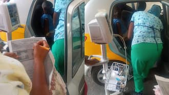 Ghanaian man rushed to hospital receives treatment in taxi over lack of beds