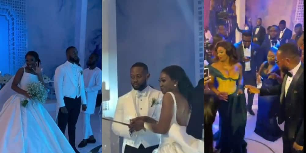 Ciri2020: The moment Stonebwoy stormed the reception to surprise the couple pops up (video)