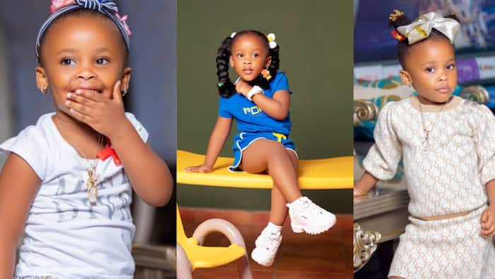 """""""See pose"""" - Baby Maxin sits and crosses her legs like a queen in latest photo; Ghanaian celebs all over her"""