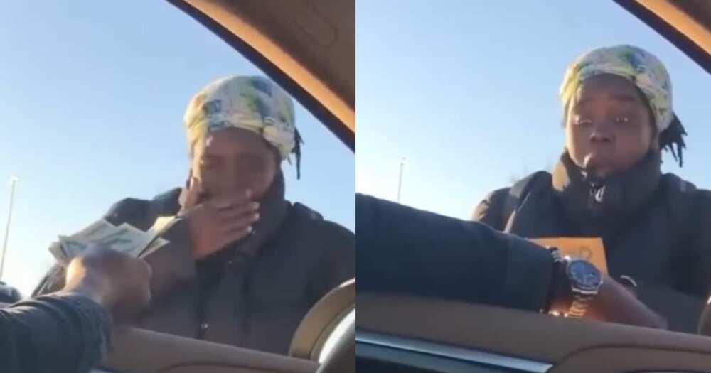 Good Samaritan blesses homeless woman with R 1 750 and a job