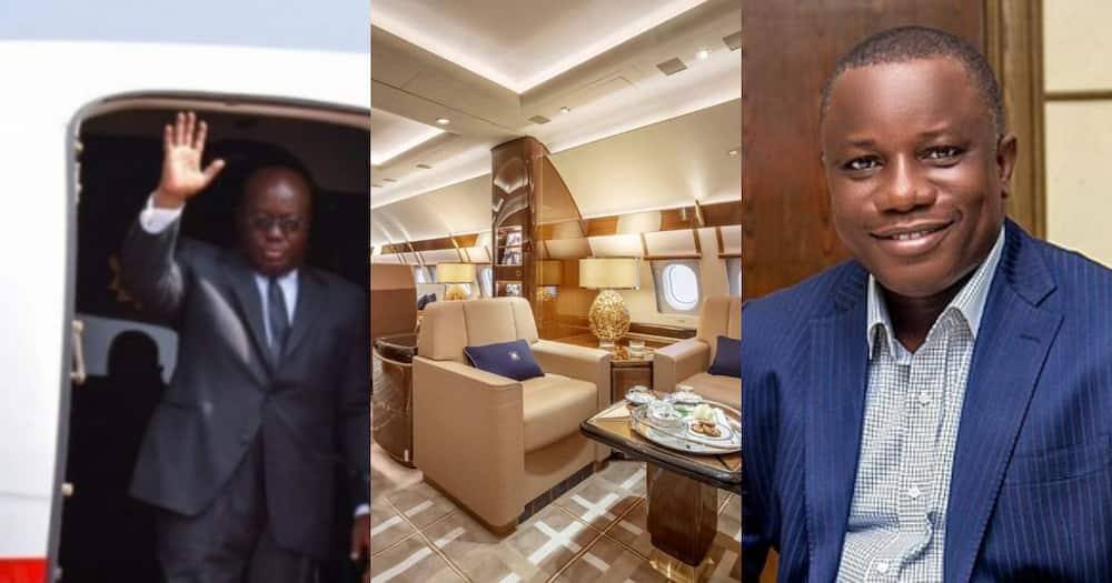 Presidential jet not up to standard; lacks bathroom for Akufo-Addo - Nitiwul justifies renting of private jet
