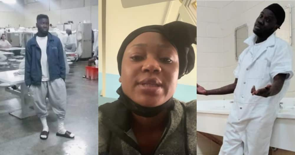 Heat in Ghana prison will kill Poloo - Showboy speaks from US prison; flaunts cell (video)