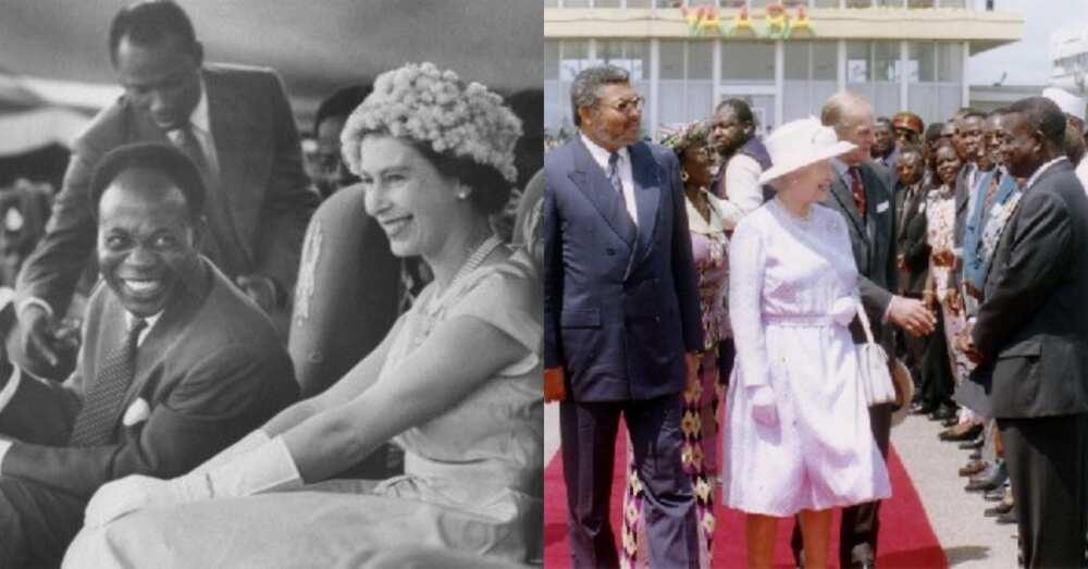 5 Historic photos showing Queen Elizabeth II meeting Ghana's presidents