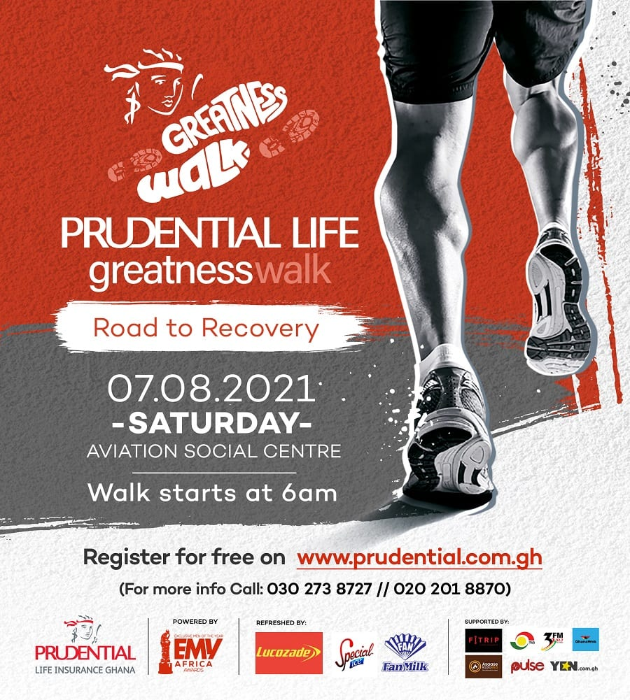 EMY Africa partners with Prudential Life Insurance for Greatness Walk on August 3
