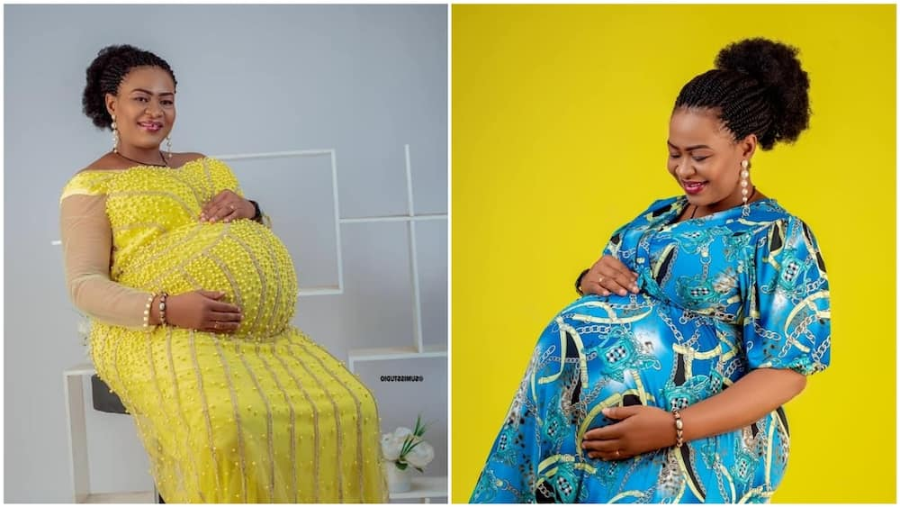 A collage of Oby Evelyn during pregnancy. Photos source: Facebook/Oby Evelyn