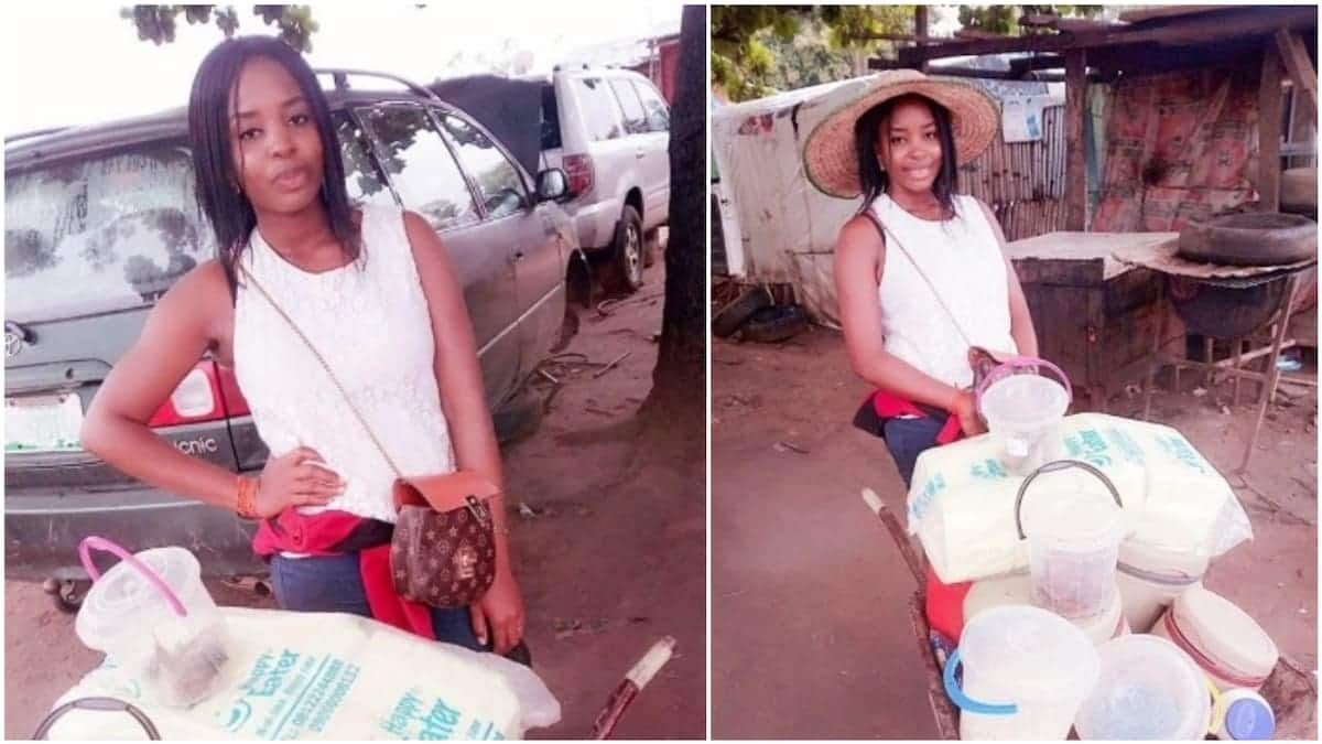 More sweet photos of the pretty graduate who sells food in a wheelbarrow pop online