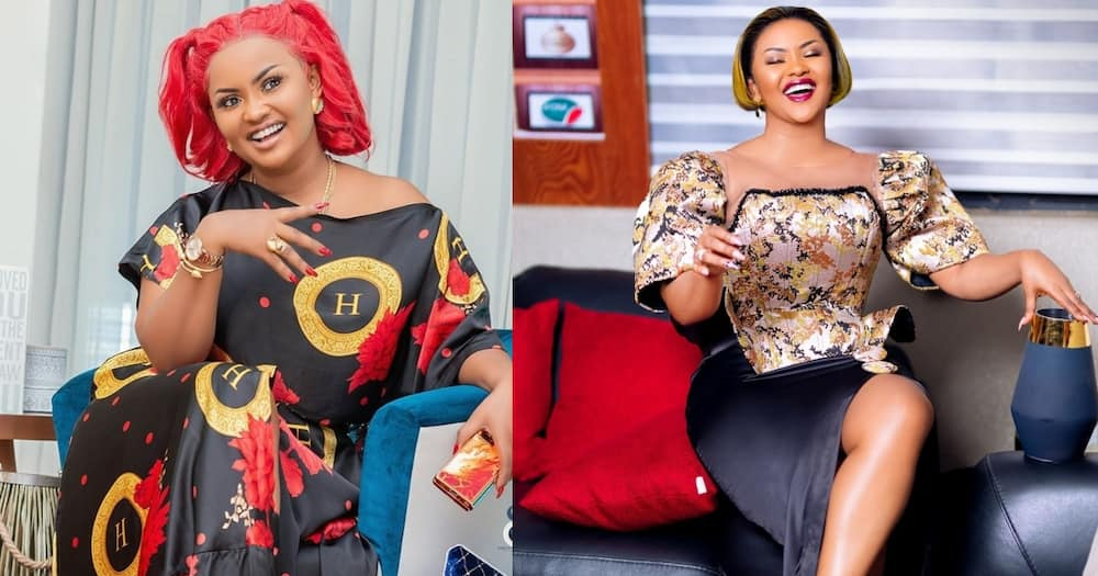 Nana Ama McBrown dazzles fans with new red hairstyle; drops photos