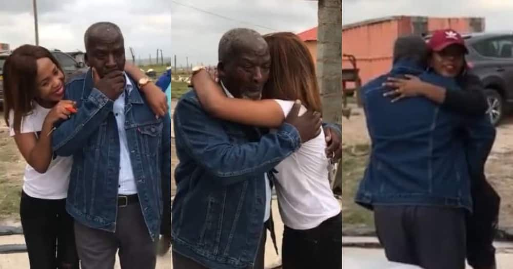 Father's Day: Daughters surprise dad with new car, he is overcome with emotion