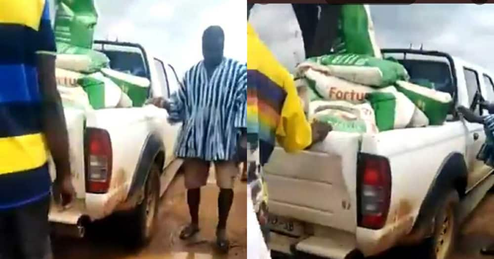 Give us jobs not rice - Damongo angrily chant as they reject 'salah' rice bags from MP
