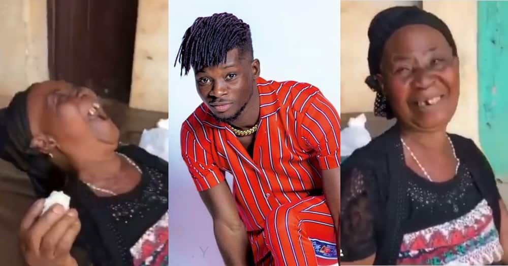 Kuami Eugene: Old lady says Musician is her best Choice; Enjoys his Ohemaa song in video