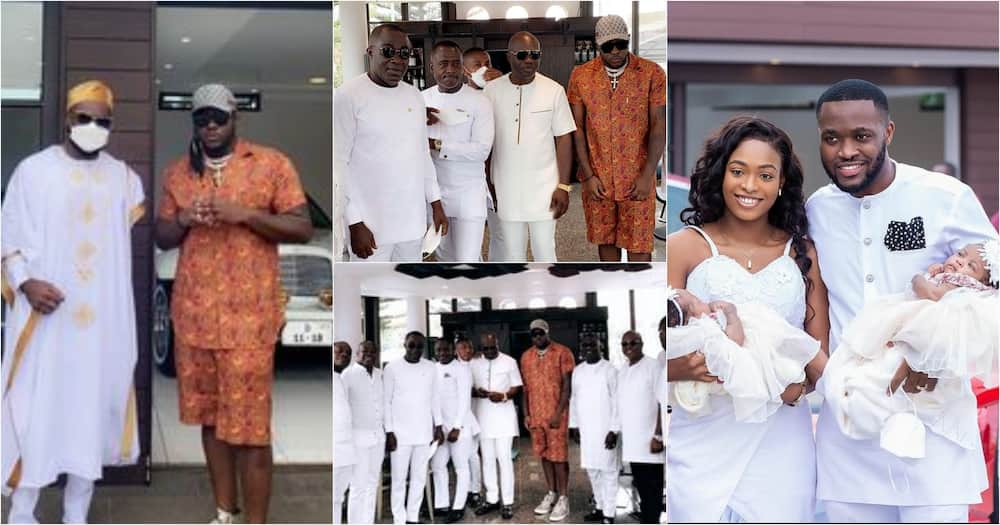 Kennedy Osei and Tracy name their twins on 1st wedding anniversary; Medikal attends (video)