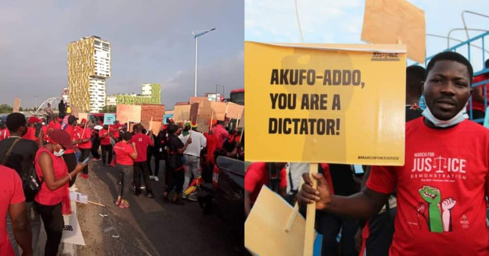 Akufo-Addo is a dictator; NDC supporters lash Prez. on 'March For Justice' demo