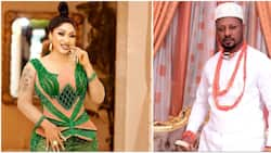 Massive reactions as photos and details of Tonto Dikeh's new lover pop up