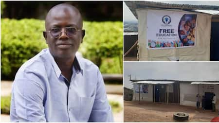 Man Builds School Beside His House to Educate Less Privileged Kids for Free, Many Hail Him