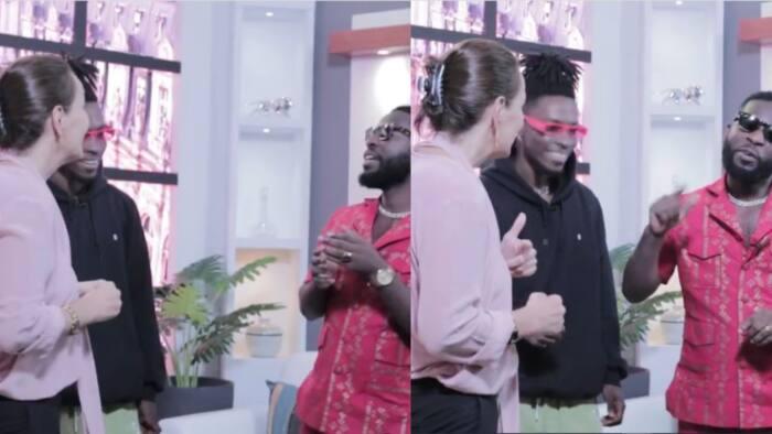 Bisa Kdei teaches French Ambassador lyrics of his song in hilarious video; Kwaku Manu laughs