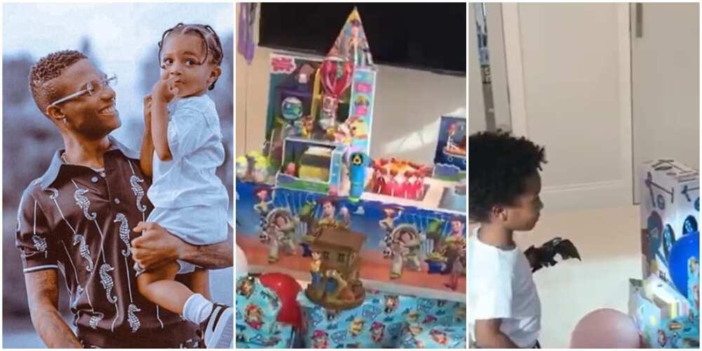 Wizkid's third son celebrates 3rd birthday in style