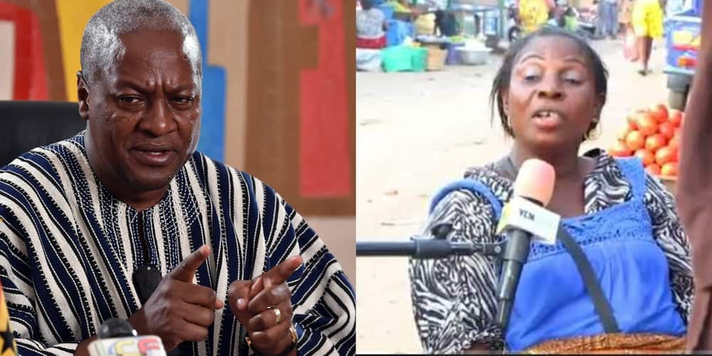 Mahama is greedy; he should not contest for the presidency - Market woman