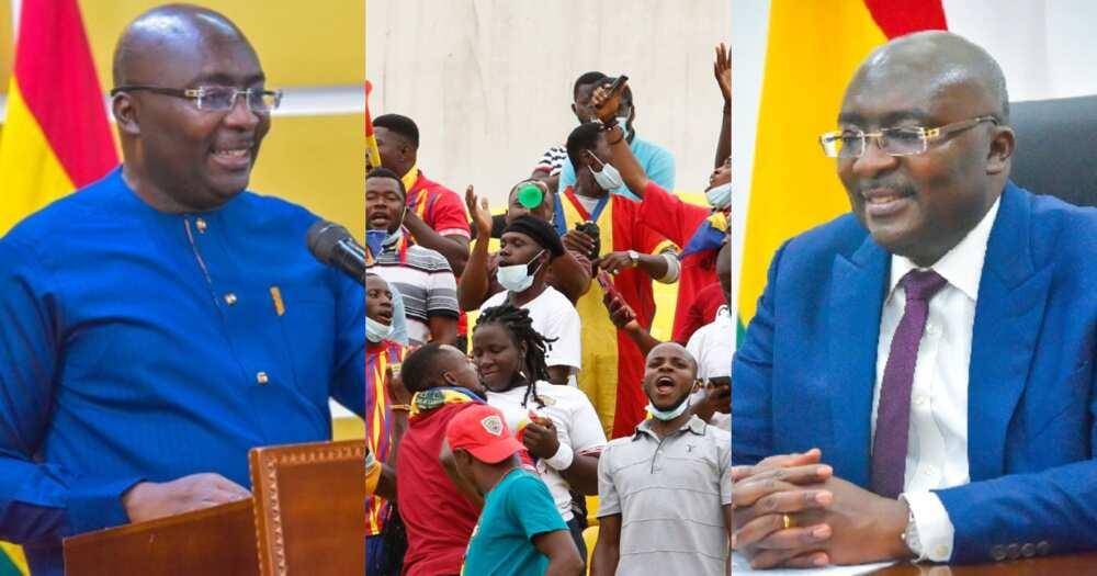 Vice President Mahamudu Bawumia congratulates Hearts after winning Ghana Premier League