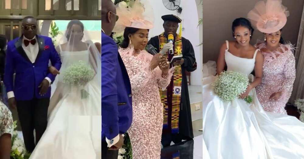 Serwaa: Wife of Ernest Ofori Sarpong pops up at their daughter Cindy's wedding