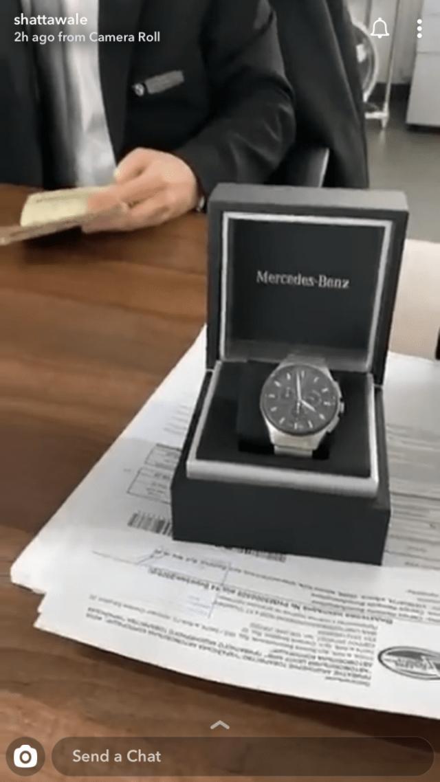 Shatta Wale buys Benz wrist watch worth $13K (Photo)