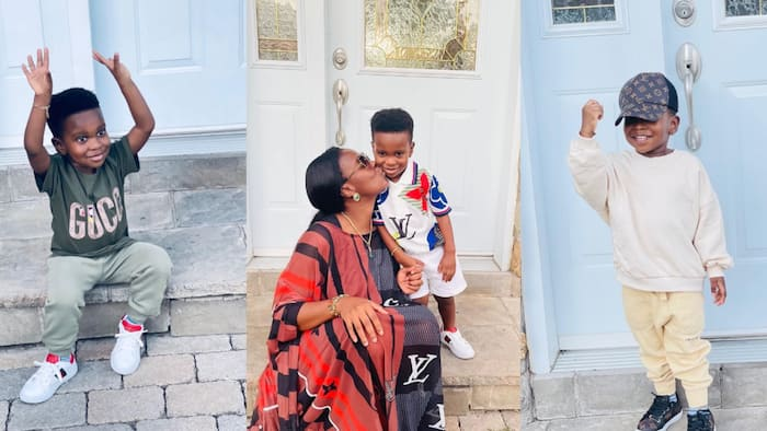 Dumelo Jnr: John Dumelo's wife celebrates her son as he marks b'day today