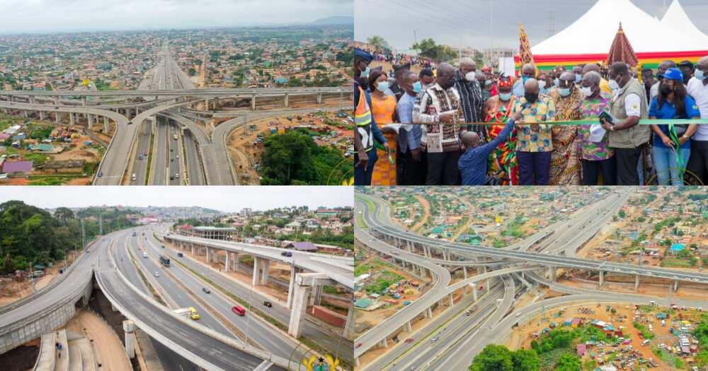 10 photos emerge as Akufo-Addo originally opens 4-tier Pokuase Interchange to traffic